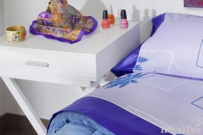 Juego de sábanas con embozo de raso 2 y 1/2 Plazas