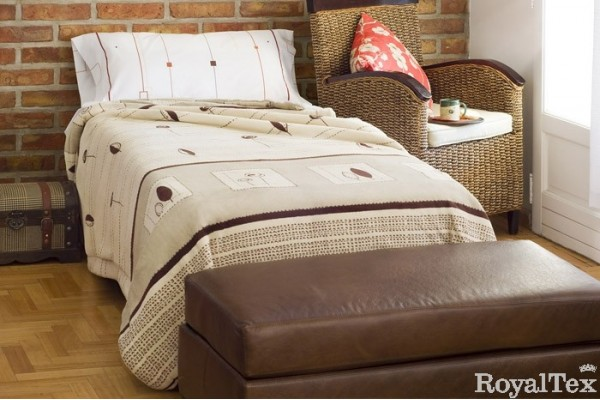 Edred n corderito reversible 1 plaza y media royaltex for Futon cama 1 plaza y media